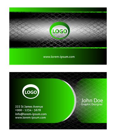 green card: Red business cards Illustration