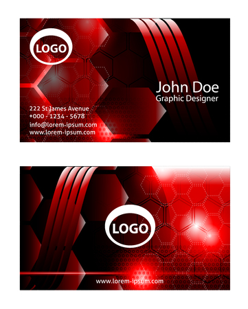 red wave: Vector Business Card