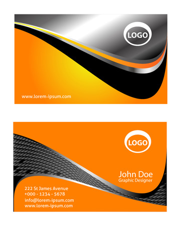 shape vector: Templates for creative business cards. Elements for design Illustration