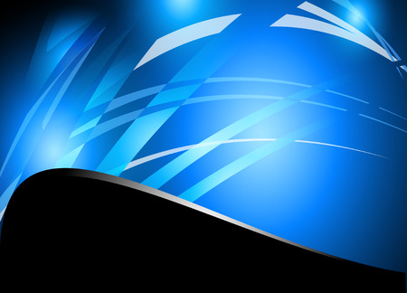 abstract art background: Abstract blue wave vector background Illustration