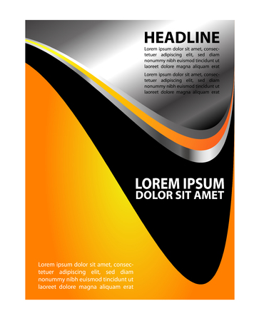 textfield: modern background flyer Illustration