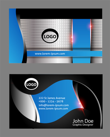 bright card: Business Card Template Vector Illustration