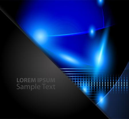 blauem Papier Hintergrund Vektor-Illustration Überlappungsabschnittsmaß Textnachricht und in der Anzeige für die moderne Website-Design