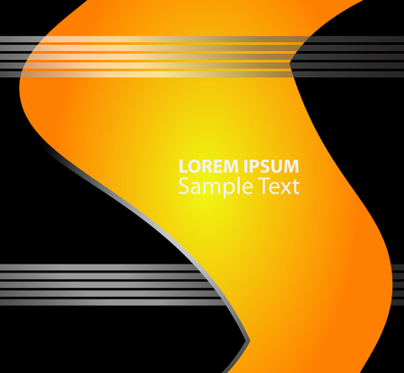 curve line: background on black background line curve overlap and dimension modern shadow space texture pattern for text messages and website design Illustration