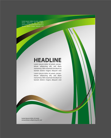 green card: Illustrated colorful layout with abstraction. Magazine covers, business brochure template. Illustration
