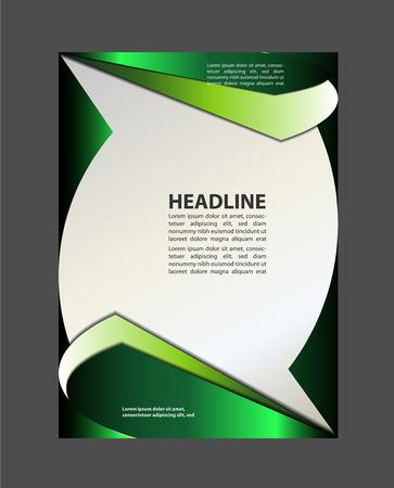 achtergrond met golf - brochure ontwerp van de flyer Vector Illustratie