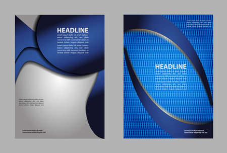 book spreads: Layout design template Vector Flyer Brochure