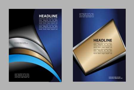 book spreads: Vector brochure, flyer, magazine cover & poster template Illustration