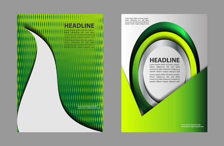 Layout Design Template Vector Flyer Brochure, A4 Size, Front ...