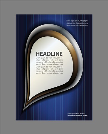 coworker banner: Vector business brochure, flyer, magazine cover