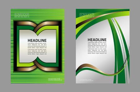 magazine design: Magazine or brochure, vector design curve wave smooth lines and circles. Abstract background.