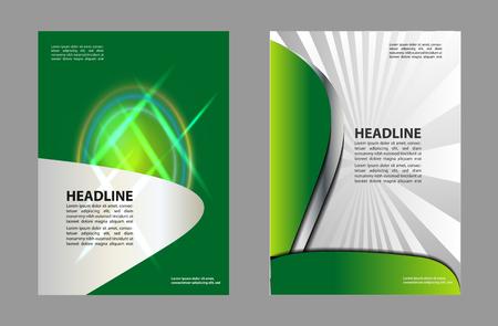 fl: Abstract Flyer Design Illustration