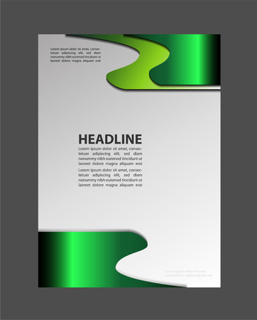 business graphics: Layout design template Vector Flyer Brochure
