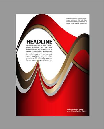 booklet design: Bi-fold brochure design templates, business leaflet, booklet