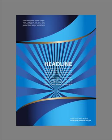 portadas de libros: Diseño del modelo del folleto del vector con los elementos verdes Vectores