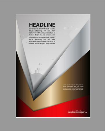 bifold: Bi-fold brochure empty vector print template