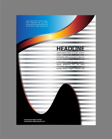 bifold: Bi-fold brochure template design with green color