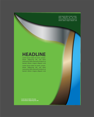 book spreads: Layout design template Vector Flyer Brochure