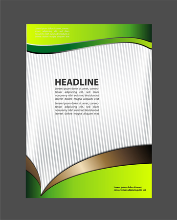 commercial painting: Vector flyer design elements and place for text black
