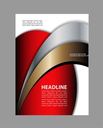 advertising design: Abstract blue and orange background with wave - design brochure or flyer Illustration