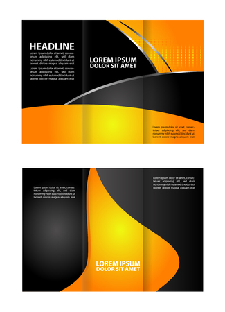 tri color: Trifold Brochure Template Design Vector