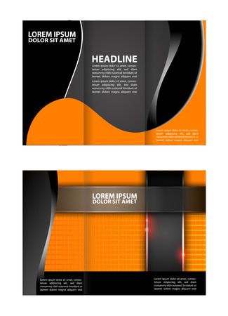 book spreads: Trifold brochure template design empty vector