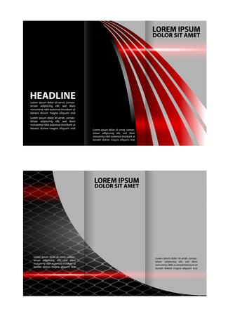 layout: Vector Brochure Layout Design Template