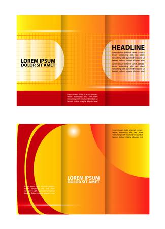 book spreads: Tri-fold brochure business Illustration