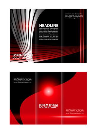 tri fold: Tri fold brochure template Red