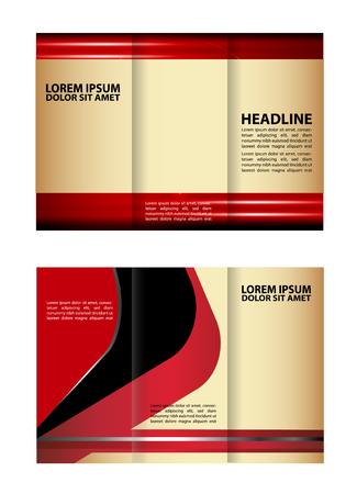 rec: Vector design template rec tri-fold brochure