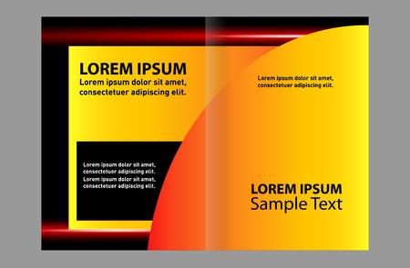 Abstract vector background for brochure or leaflet Illustration