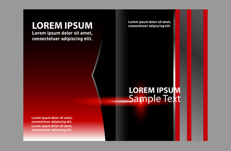 bifold: Bi-Fold Brochure Design Colorful. Leaflet Corporate, Cover Template
