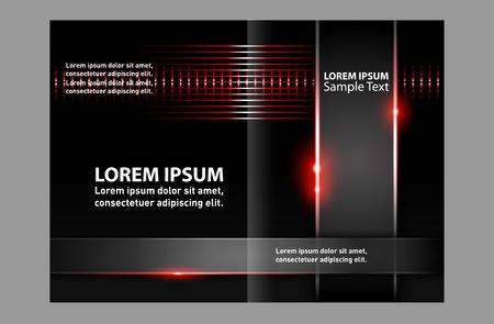 Template brochure folder leaflet