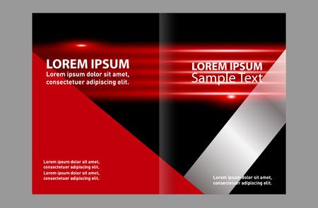 bifold: Black bi-fold brochure design templates, business leaflet, booklet