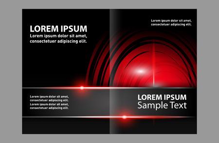Vector business brochure, flyer template design