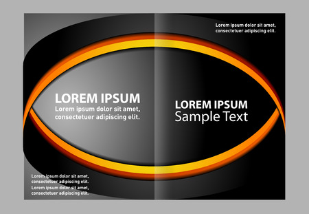 Vector brochure template design with elements