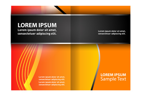 Black and orange template for advertising brochure