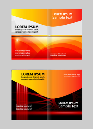colors background: Bi Fold Brochure Design Vector