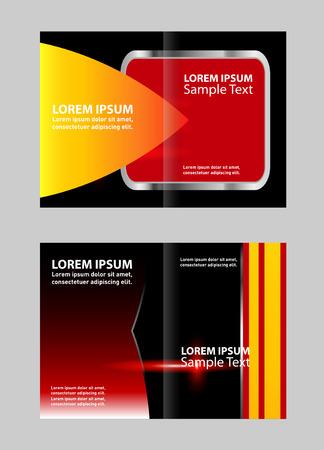 book spreads: Vector orange brochure design templates
