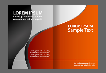 bifold: Bi-fold brochure empty vector template design print Illustration