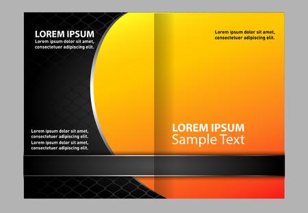 bifold: bi-fold brochure template orange