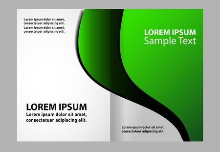 book spreads: Bi-fold brochure empty vector print template