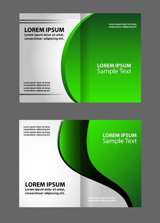 bi: Green bi fold brochure template