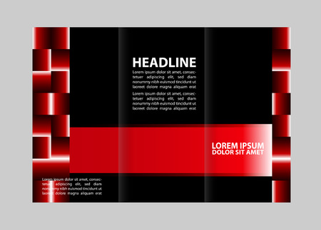 threefold: brochure design template with circles arrows lines