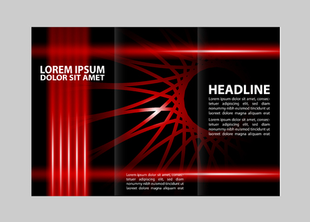 publishing: Professional three fold business flyer template, corporate brochure or cover design, can be use for publishing, print and presentation. Illustration