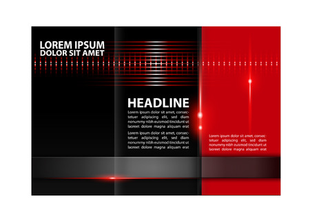 book publisher: trifold brochure design template abstract vector