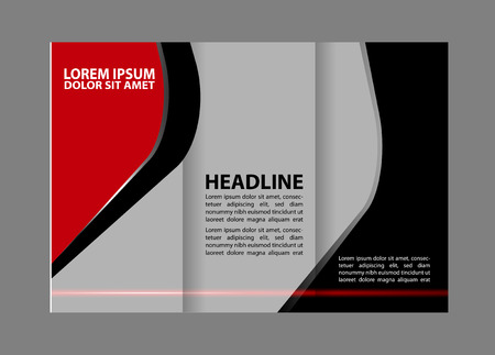 Vector brochure template design with blue elements.