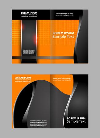 bifold: Bi-Fold Brochure Design. Leaflet Corporate, Cover Template