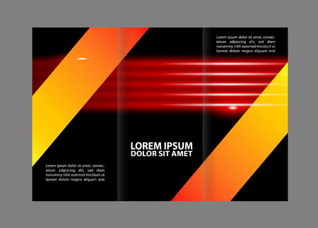 book spreads: Tri-fold brochure empty vector template design print, booklet or flyer trifold