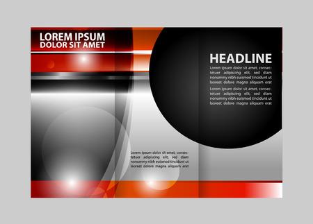 Avant et page arrière présentation de Professional Business Trifold Two, Flyer, bannière ou de la conception de modèle. Vecteurs